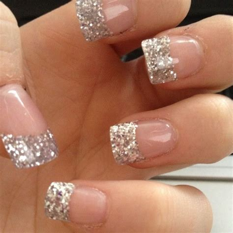 Acrylic Nail Tips by 17 Best Ideas About Glitter Tips On