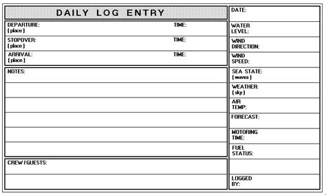 boat log book template boat log book template templates resume exles