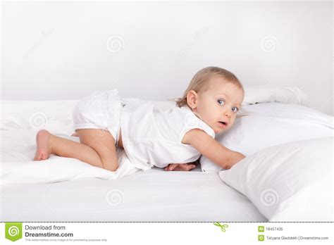 how to make a baby in bed sexually baby in bed royalty free stock photo image 18457435