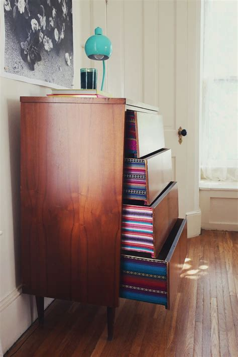 Lining Dresser Drawers With Fabric by Try This Fabric Lined Dresser Drawers A Beautiful Mess