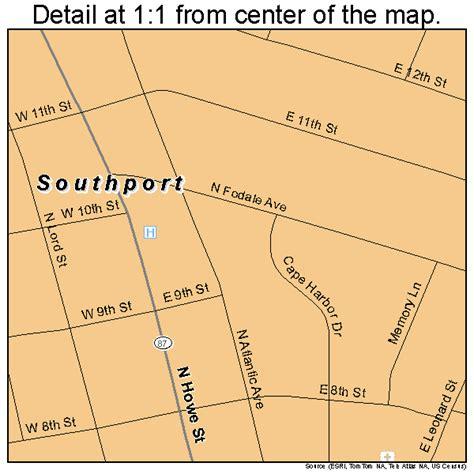 map of southport carolina southport carolina map 3763400