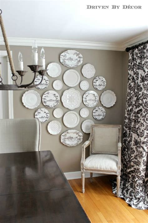 Driven By Decor by A New Decorative Plate Wall In Our Dining Room Driven By
