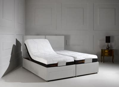 sorrento adjustable brown sugar fabric divan bed