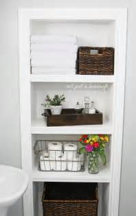 built in wall shelves bathroom bathroom shelves not just a