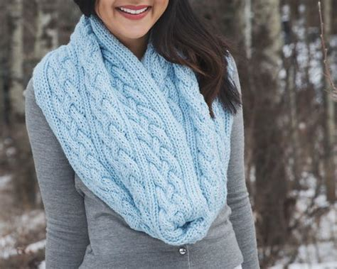 winter infinity scarf pattern braided cables winter infinity scarf allfreeknitting