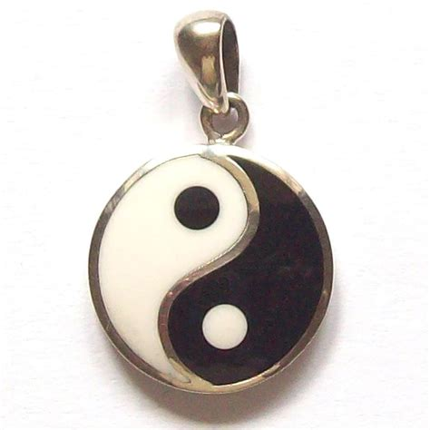 sterling silver yin yang pendant astral aspects