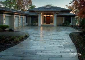 Backyard Makeover Before And After Antique Paver Driveway