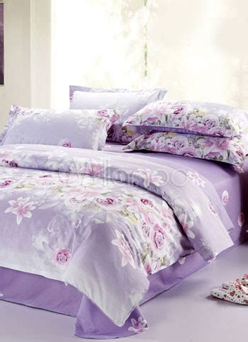 Lavender Bedroom Ls by Purple Garden Textile Printing Twill Cotton 4 Pcs Bedding