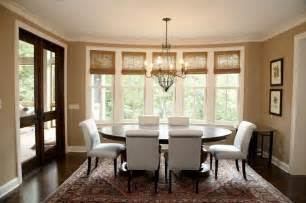 Dining Room Window Treatments by Woven Wood Shades Tie Rooms Together