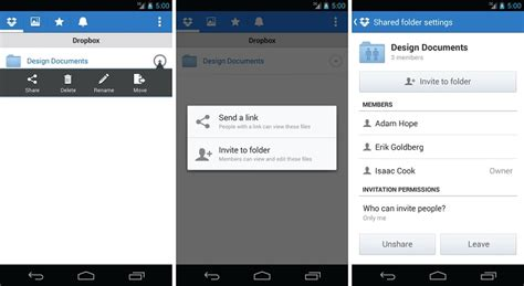 dropbox for android dropbox for android updated with improved mobile sharing