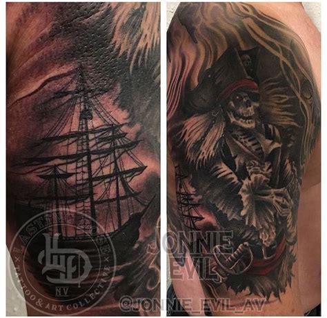 tattoo convention st cloud jonnie evil pirate black and grey ship