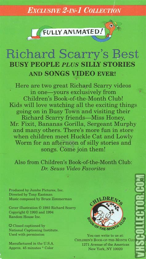 best stories richard scarry s best busy silly stories and songs