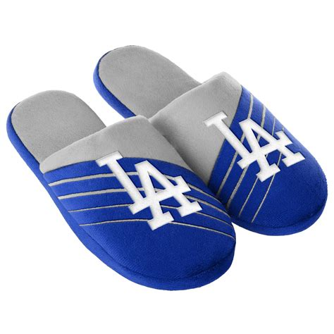 dodger slippers mlb s los angeles dodgers blue gray slippers