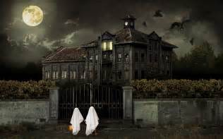 haunted house wallpaper 37634