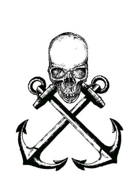 crossed anchors tattoo skull sailor tattoos