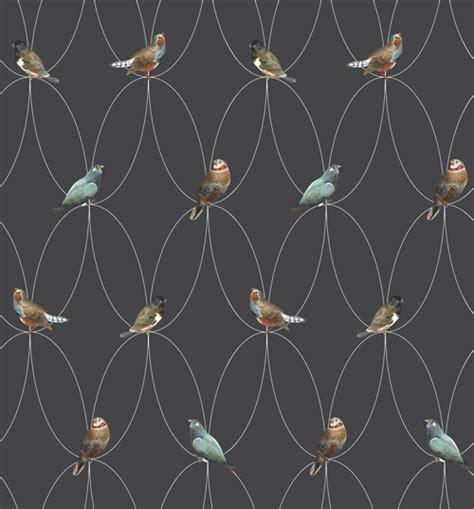 grey wallpaper with birds on wallpaper birds brunklaus amsterdam design