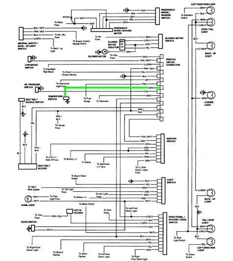 stereo wiring diagram for 86 chevy wiring diagram with