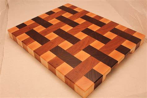 pattern wood cutting board wood end grain weave pattern butcher block cutting board
