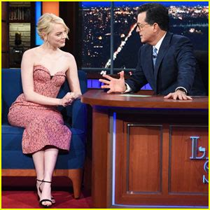 emma stone colbert celebrity gossip and entertainment news just jared