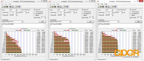 atto bench review ocz vertex 450 256gb ssd custom pc review