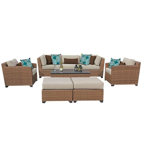 outdoor sofa and table set vicenza 8 rattan outdoor sofa set