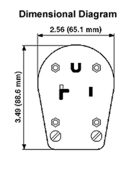 287-E - 30/50 Amp NEMA 10-30P/10-50P Non-Grounding Angle