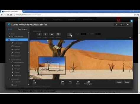 adobe photoshop tutorial resize image photoshop express editor crop and resize a photo youtube