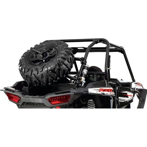 rear tire holder black  polaris  polaris rzr xp   eps