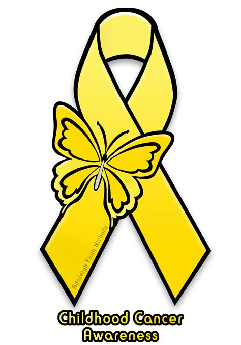 childhood cancer awareness color childhood cancer awareness ribbon by adaleighfaith on
