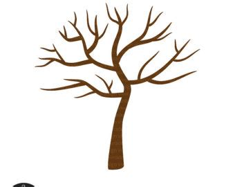 Brown Tree Clip by Brown Clipart Bare Tree Pencil And In Color Brown