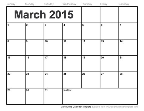 march calendar template printable march calendar template