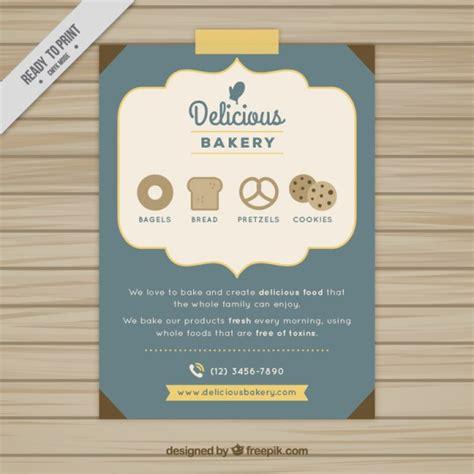 delicious bakery brochure vector free download