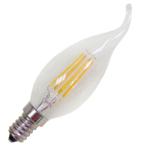 led candle light bulb 4w led energy saving filament candle light candelebra