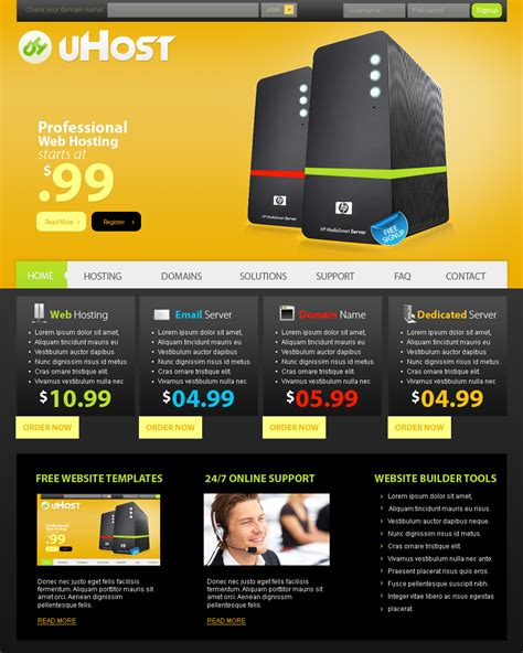 hosting templates web templates hosting by netspy9286 on deviantart