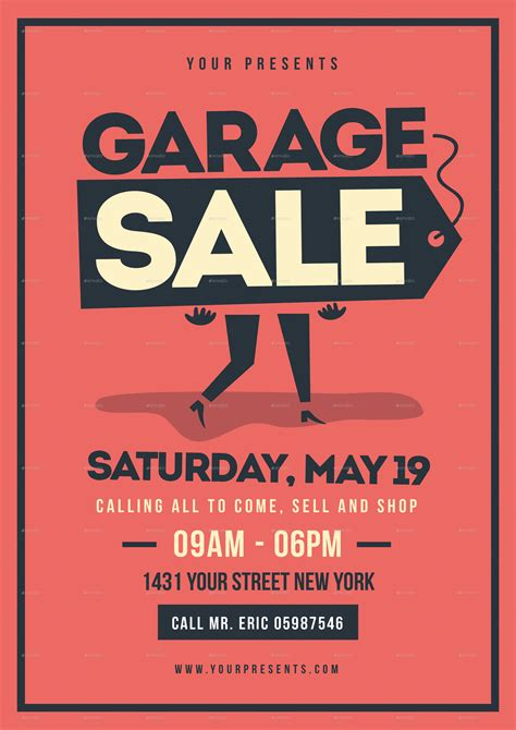 sle templates for flyers retro garage sale flyer by lilynthesweetpea graphicriver