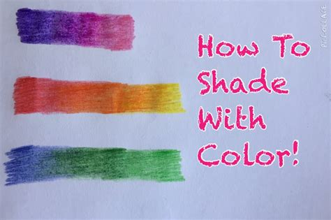 how to color with colored pencils how to shade using colored pencils