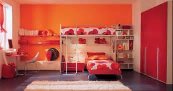 Kids Loft Bedroom Sets Stunning Modern Orange Kids Bedroom Design Ideas With Cool