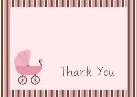 thank you note template baby shower free baby shower thank you card templates ideas anouk