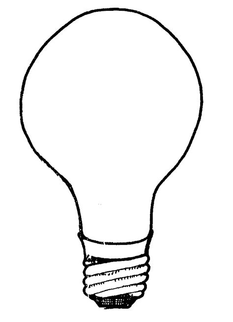 free light bulb coloring pages