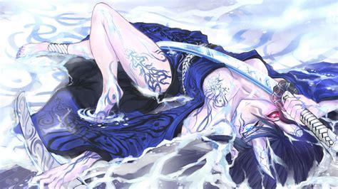 anime girl tattoo hd wallpaper female anime samurai wallpaper 65 images