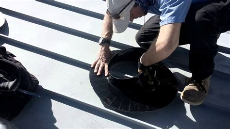 how to install a solatube on a metal roof with a specially