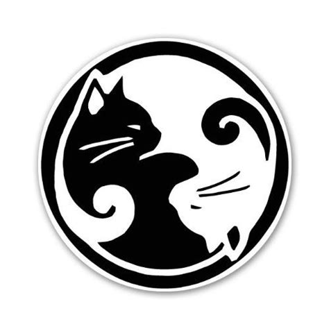cat yin yang tattoo ying yang cats cat lovers at peace you can never go