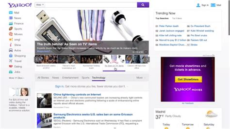 yahoo layout of home page yahoo testing a new home page design search engine land