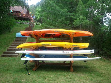Kayak Rack by 8 Place Kayak Rack Sided Kayak Canoe Storage