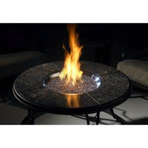 Tabletop Firepit 42 Inch Chat Propane Gas Pit Table With Granite Top And Lazy Susan By Outdoor Greatroom