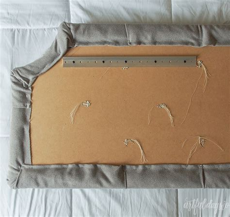 french cleat headboard queen button tufted headboard tutorial artful days