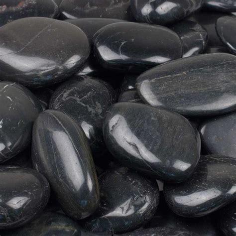 Decorative Beads For Vases Decorative Polished River Stone Black River Stone