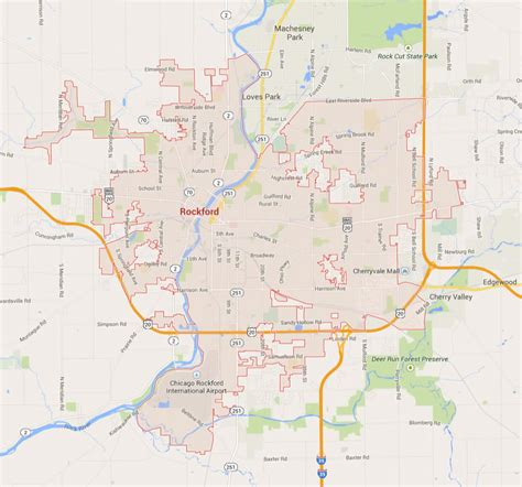 rockford usa map rockford illinois map