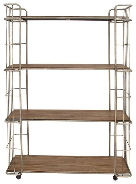 rolling metal shelves modernly designed metal wood rolling shelf traditional display and wall shelves by wildorchid