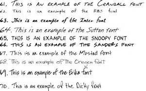 Great Essay Fonts by Handwriting Font Sles